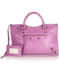 Balenciaga City Textured-Leather Tote - Lyst