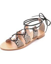 Club Monaco Thiais Sandals - Natural Snake/Black beige - Lyst