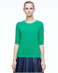 Halston Heritage Cutout Fauxleather Skirt - Lyst