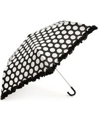 Forever 21 - Dotted Ruffle Travel Umbrella - Lyst