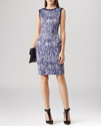 Reiss Dress - Feist Zebra Print Jersey - Lyst