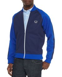 Fred Perry Bomber Track Jacket - Lyst
