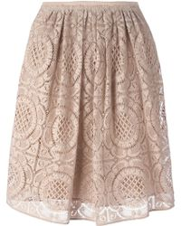 Burberry London Layered Lace Skirt - Lyst