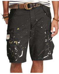 Denim & Supply Ralph Lauren Herringbone Cargo Shorts - Lyst