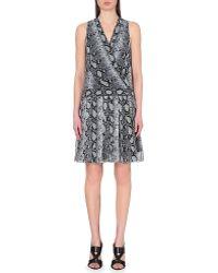 Proenza Schouler Snake-Print Silk-Crepe Dress - For Women - Lyst