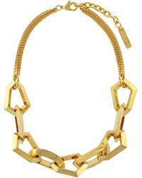 Vince Camuto Goldtone Angular Link Necklace - Lyst