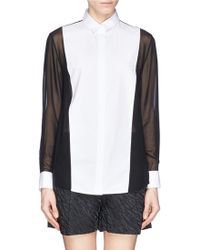 3.1 Phillip Lim 'Tuxedo' Oxford Silk Chiffon Shirt - Lyst