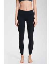 Forever 21 Mesh-Paneled Workout Leggings - Lyst