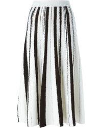 Aviu   Striped Pleated Skirt   Lyst