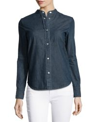 Stella McCartney Long-Sleeve Denim Shirt - Lyst