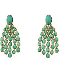 Aurelie Bidermann Cherokee Turquoise Clip On Earrings - Lyst