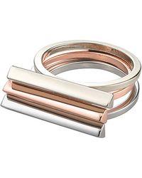 Whistles - Triple Stacker Bar Ring - Lyst