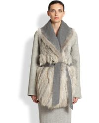 The Row Noraf Fox-Fur Paneled Jacket - Lyst