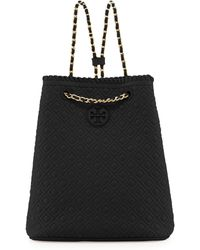 Tory Burch Marion Quilted Leather Backpack Black - Lyst