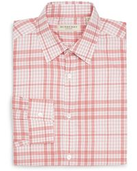 Burberry London Treyforth Checked Cotton Dress Shirt - Lyst
