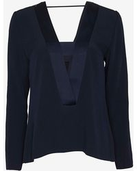 Exclusive For Intermix - Pascal Deep V Crepe Top - Lyst