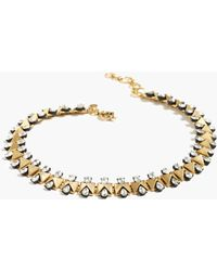 J.Crew Crystal Bow-Tie Necklace gold - Lyst