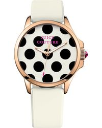 Juicy Couture Women'S Jetsetter White Silicone Strap Watch 38Mm 1901223 - Lyst