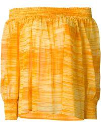 Yves Saint Laurent Vintage Off-Shoulder Blouse orange - Lyst
