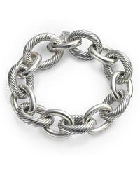 David Yurman - Sterling Silver Xx Large Oval Link Chain Bracelet - Lyst