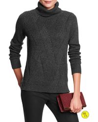 Banana Republic Factory Cross-weave Turtleneck Sweater - Lyst