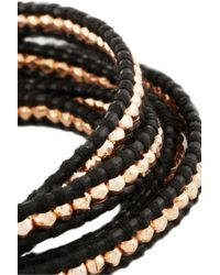 Chan Luu - Rose Goldplated and Leather Five Wrap Bracelet - Lyst