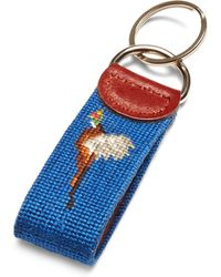 Brooks Brothers Duck Hunting Needlepoint Key Fob - Lyst