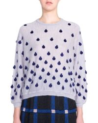 Marco De Vincenzo Polka-Dot Cashmere Sweater - Lyst