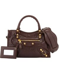 Balenciaga Giant 12 Golden Mini City Bag brown - Lyst