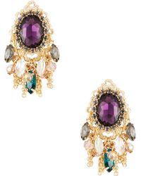 Cara Rhinestone Accented Fringe Earrings - Lyst