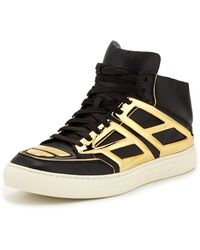 Alejandro Ingelmo Leather  Metallic Plate High-top Sneaker - Lyst