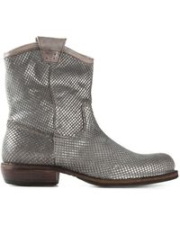 Fiorentini + Baker Texano Leather Boots silver - Lyst