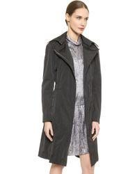 Nina Ricci Taffeta Trench Coat - Black - Lyst