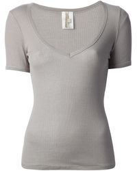 Vanessa Bruno Scoop Neck Tshirt - Lyst