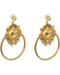 Ela Stone - Lion Hoop Earrings - Lyst