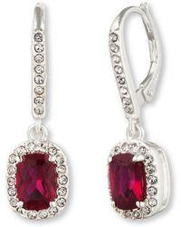Judith Jack Crystallized Garnet Stone Drop Earrings - Lyst