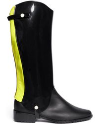 Melissa Riding Glossy Rubber Panel Matte Boots - Lyst