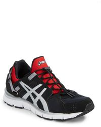 Asics® Black Gel-Synthesis Sneakers - Lyst