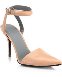 Alexander Wang Lovisa Leather Point-Toe Pumps - Lyst