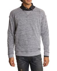 Diesel Spatane Lightblue Mottled Sweater - Lyst