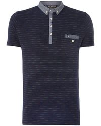 Duck And Cover Weiss Space Dye Stripe Polo Shirt - Lyst