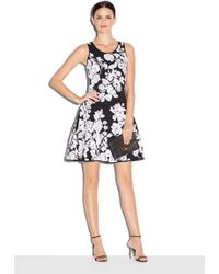 Milly | Silhouetted Floral Dress | Lyst