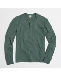 J.Crew Factory Textured Cotton Henley - Lyst