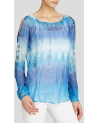 Red Haute Cold Shoulder Tie Dye Blouse - Lyst