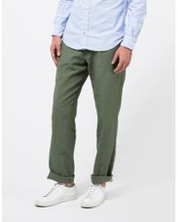 Apolis - Linen Civilian Chino Pant In Olive - Lyst
