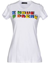 DSquared2 White T-Shirt - Lyst