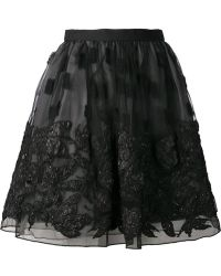 Alice + Olivia Embroidered Skirt - Lyst