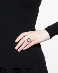 Rosa De La Cruz Smiley 18k Oxidised Gold and Diamond Ring - Lyst