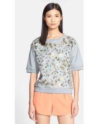 Alice + Olivia 'Gloria' Embellished Sweatshirt - Lyst
