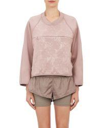 Adidas By Stella McCartney Floral-Embossed Neoprene Sweatshirt - Lyst